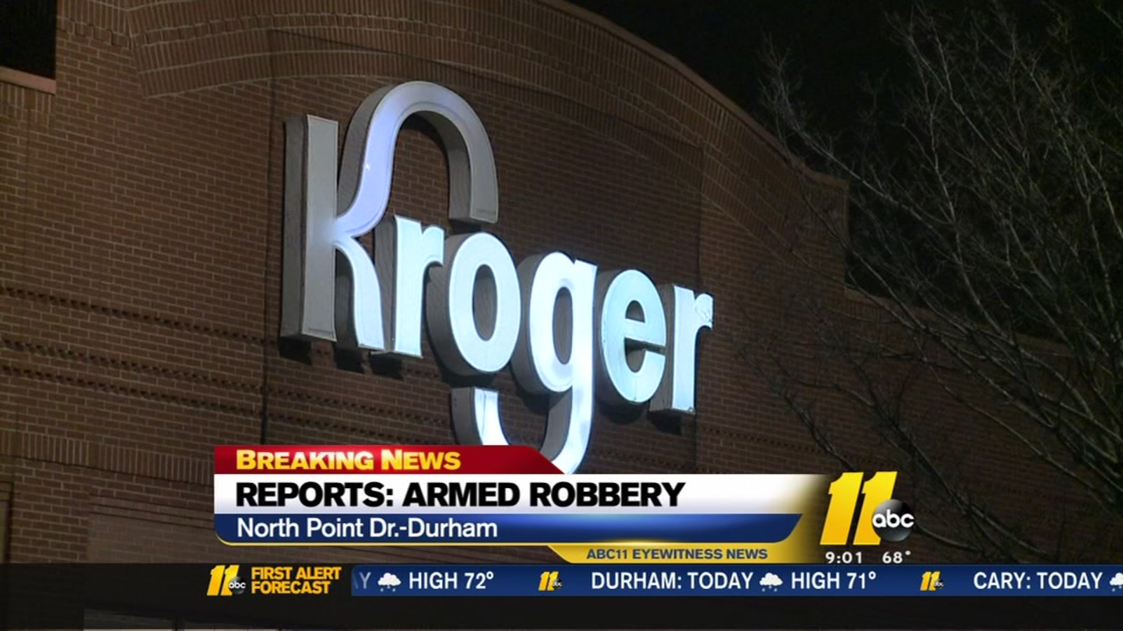 Durham Police Seek 2 Suspects In Kroger Armed Robbery Abc11 Raleigh Durham