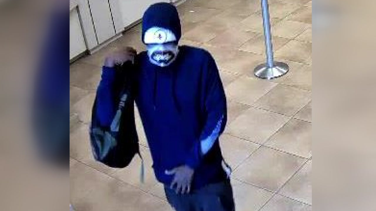 Gunman In Distinctive Mask Wanted In North Houston Bank