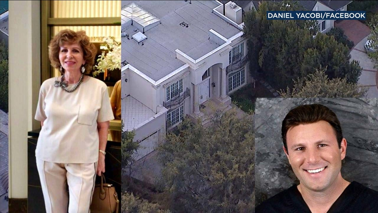 Violet Yacobi, her son Daniel and their family's mansion are seen in photos.