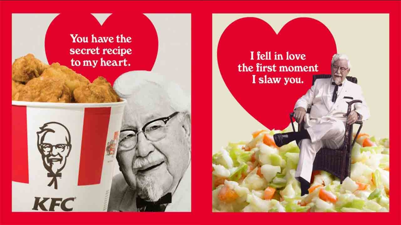 KFC offering scratch 'n' sniff Valentine's Day cards