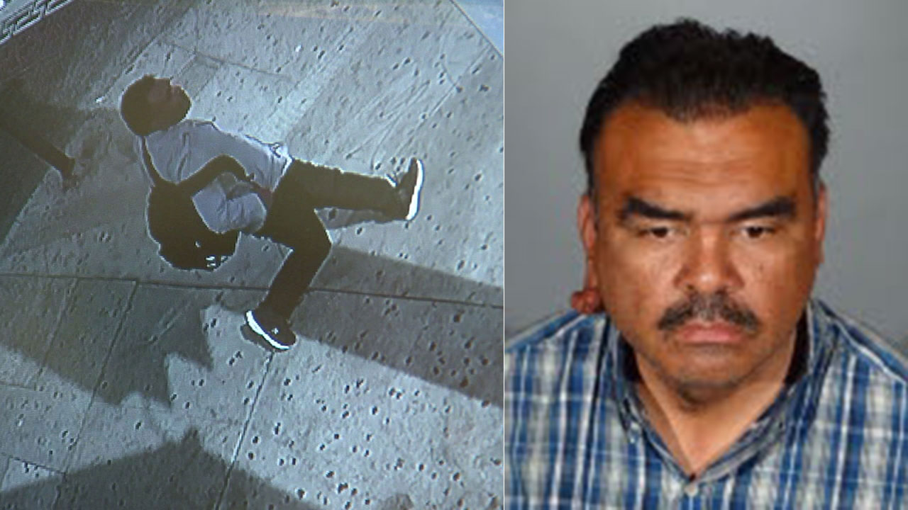 Richard Rene Colomo of Bell Gardens is the suspect in the beating of an elderly woman in Koreatown.