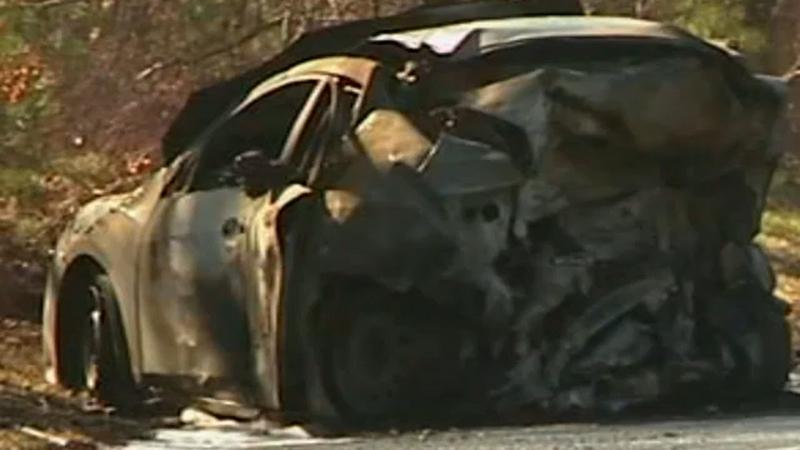5 dead in fiery crash involving oil truck, stolen car on Long Island