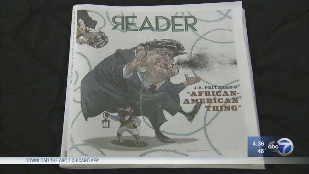 Cartoon of J.B. Pritzker stirs controversy