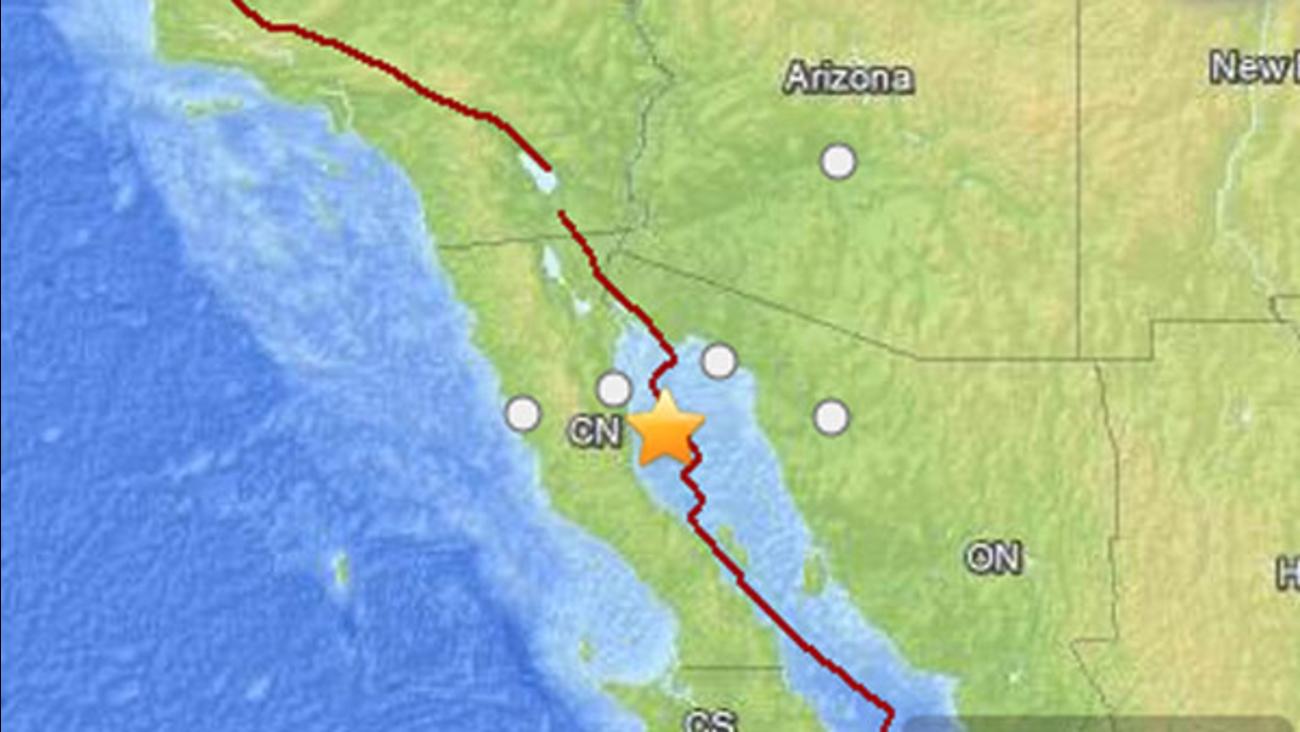 2 Earthquakes Shake Baja California Abc30 Com