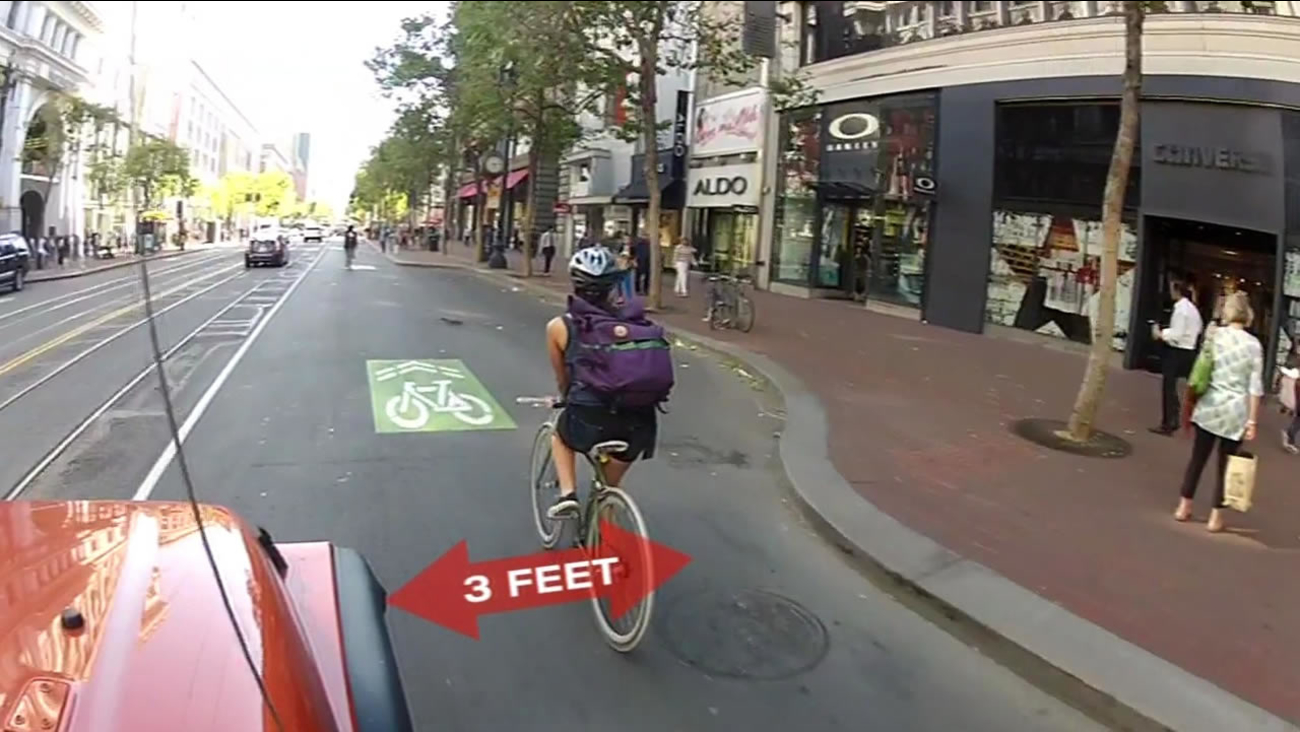 New law requiring drivers to give 3-foot buffer to cyclists to go into effect