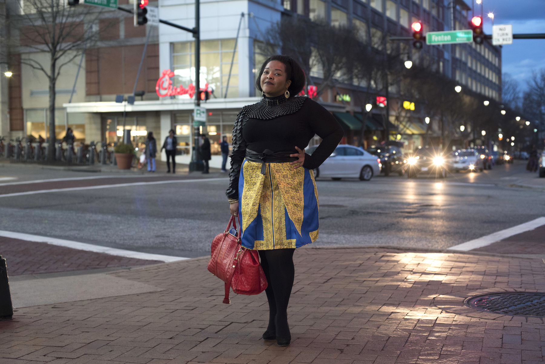 <div class='meta'><div class='origin-logo' data-origin='AP'></div><span class='caption-text' data-credit='AP Photo/Sait Serkan Gurbuz'>Nicole Moore dressed in Wakanda-inspired attire poses for a portrait before seeing Black Panther in Silver Spring, Md., Thursday, Feb. 15, 2018.</span></div>