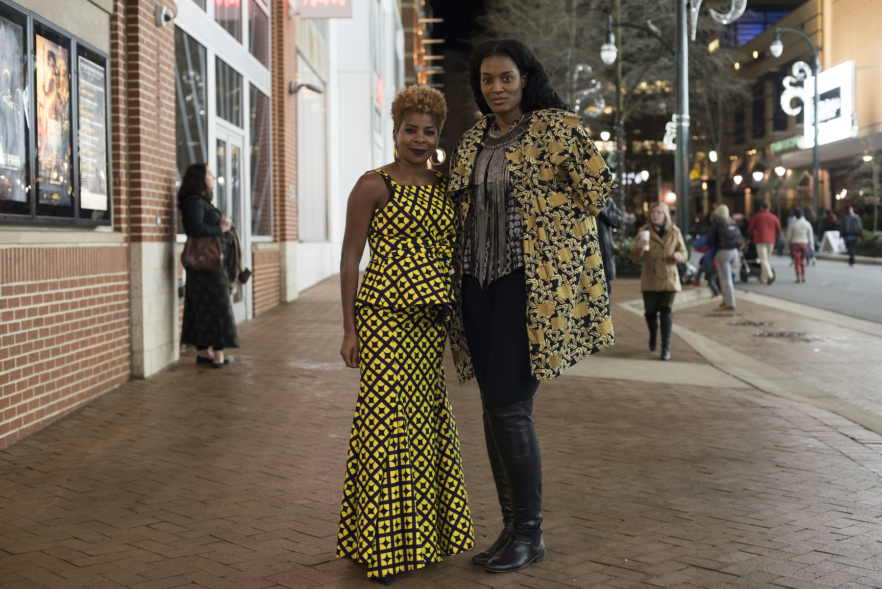 "<div class=""meta image-caption""><div class=""origin-logo origin-image ap""><span>AP</span></div><span class=""caption-text"">Allyson Little and Melissa Williams-Valrie, dressed in Wakanda-inspired attire, pose for a portrait before seeing Black Panther in Silver Spring, Md., Thursday, Feb. 15, 2018. (AP Photo/Sait Serkan Gurbuz)</span></div>"