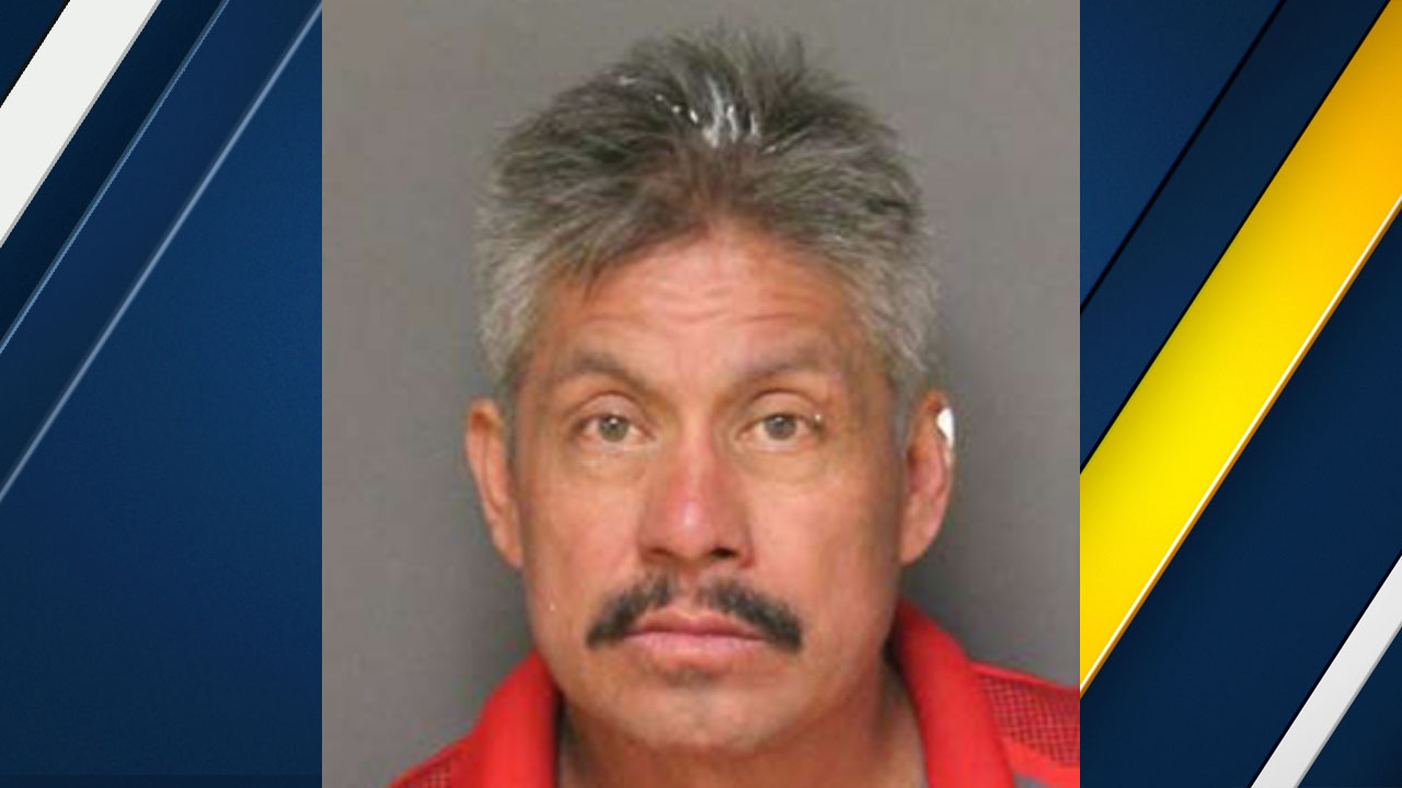 Maximino Delgado, 52, of Anaheim, is shown in a mugshot.