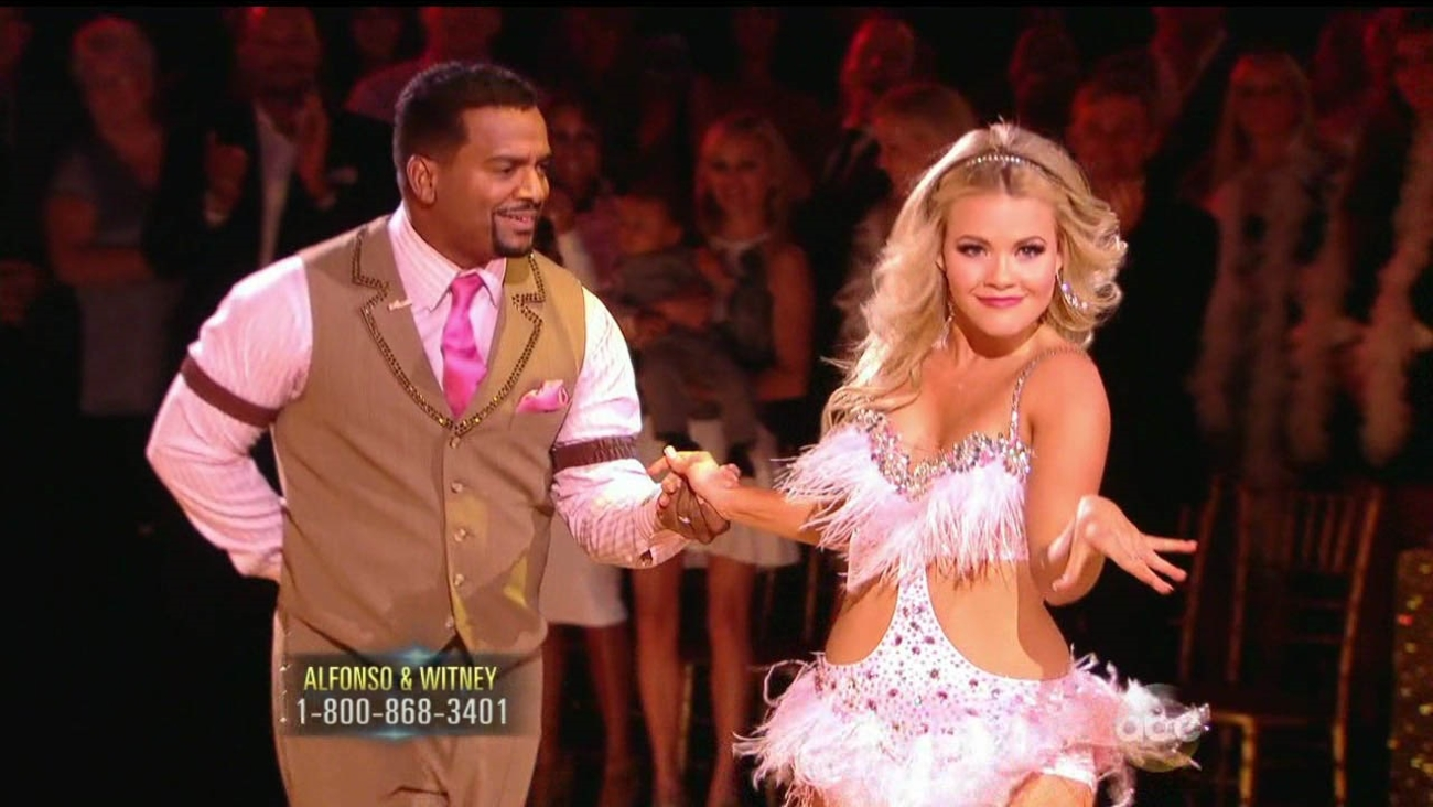 Alfonso Ribeiro and partner Witney Carson perform on 'Dancing With The Stars' Season 19 premiere on Monday, Sept. 15, 2014.
