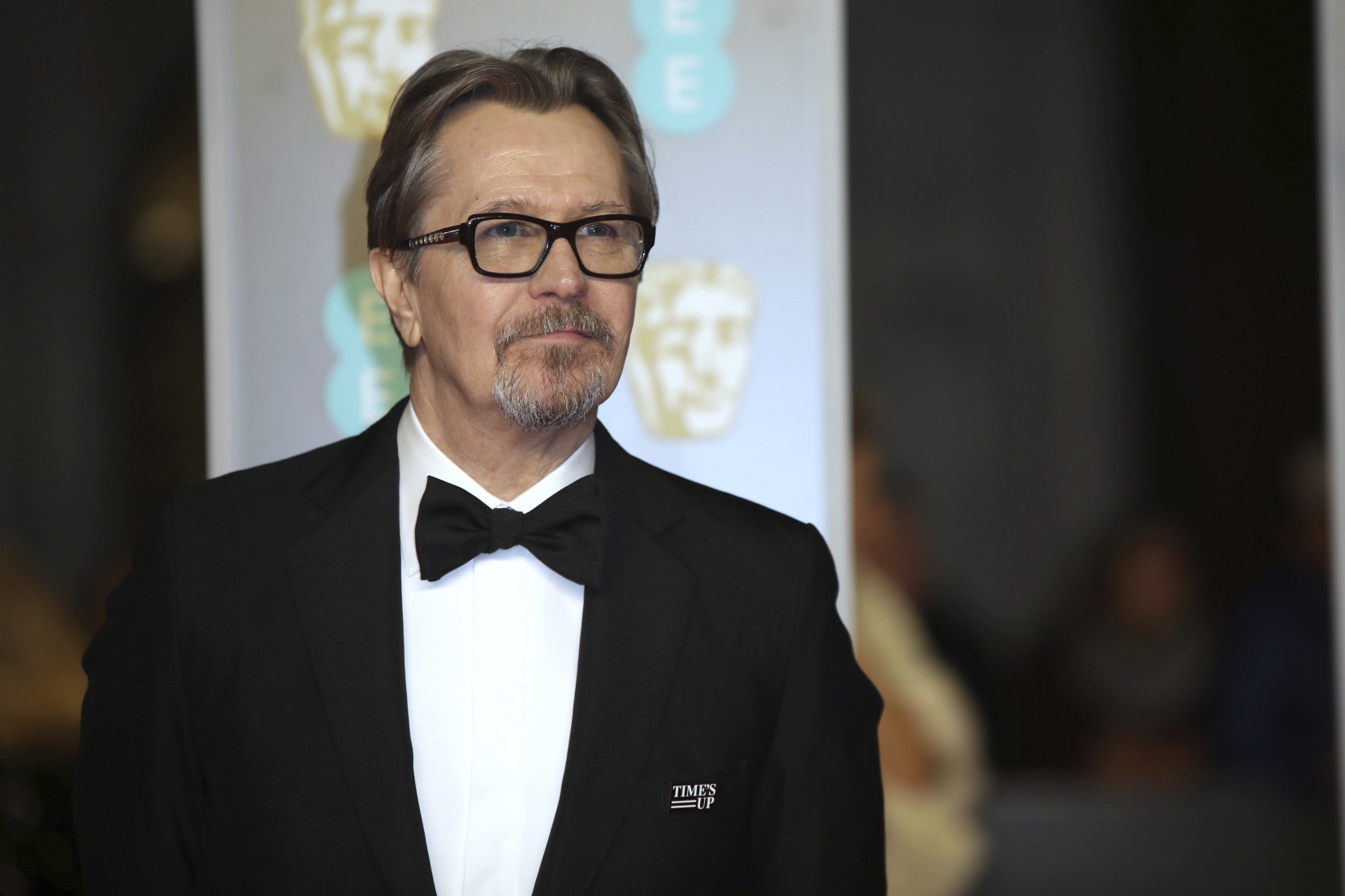 <div class='meta'><div class='origin-logo' data-origin='AP'></div><span class='caption-text' data-credit='Vianney Le Caer/Invision/AP'>Actor Gary Oldman poses for photographers upon arrival at the BAFTA Awards 2018 in London, Sunday, Feb. 18, 2018.</span></div>