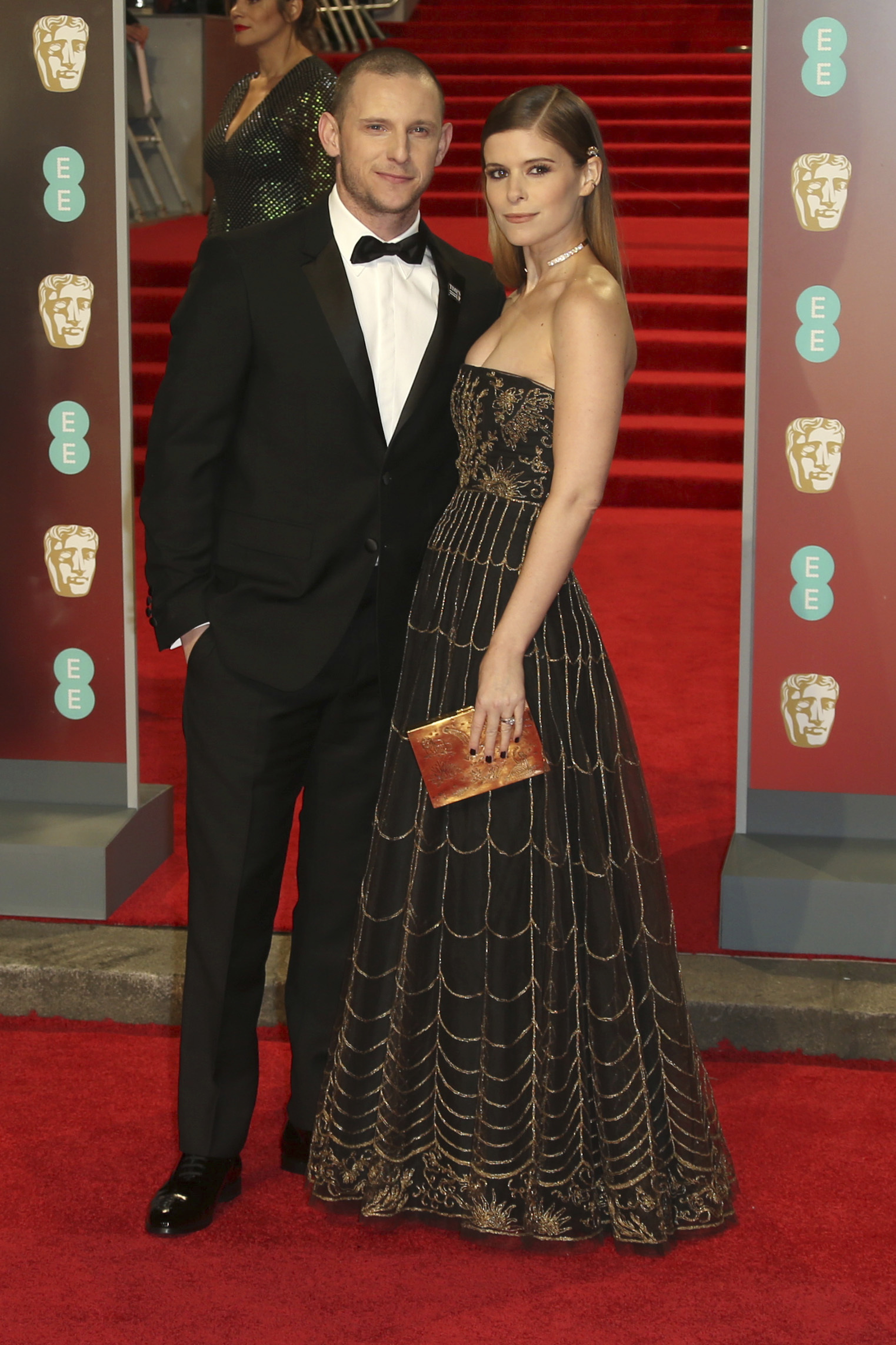 <div class='meta'><div class='origin-logo' data-origin='AP'></div><span class='caption-text' data-credit='Joel C Ryan/Invision/AP'>Actors Jamie Bell and Kate Mara pose for photographers upon arrival at the BAFTA 2018 Awards in London, Sunday, Feb. 18, 2018.</span></div>