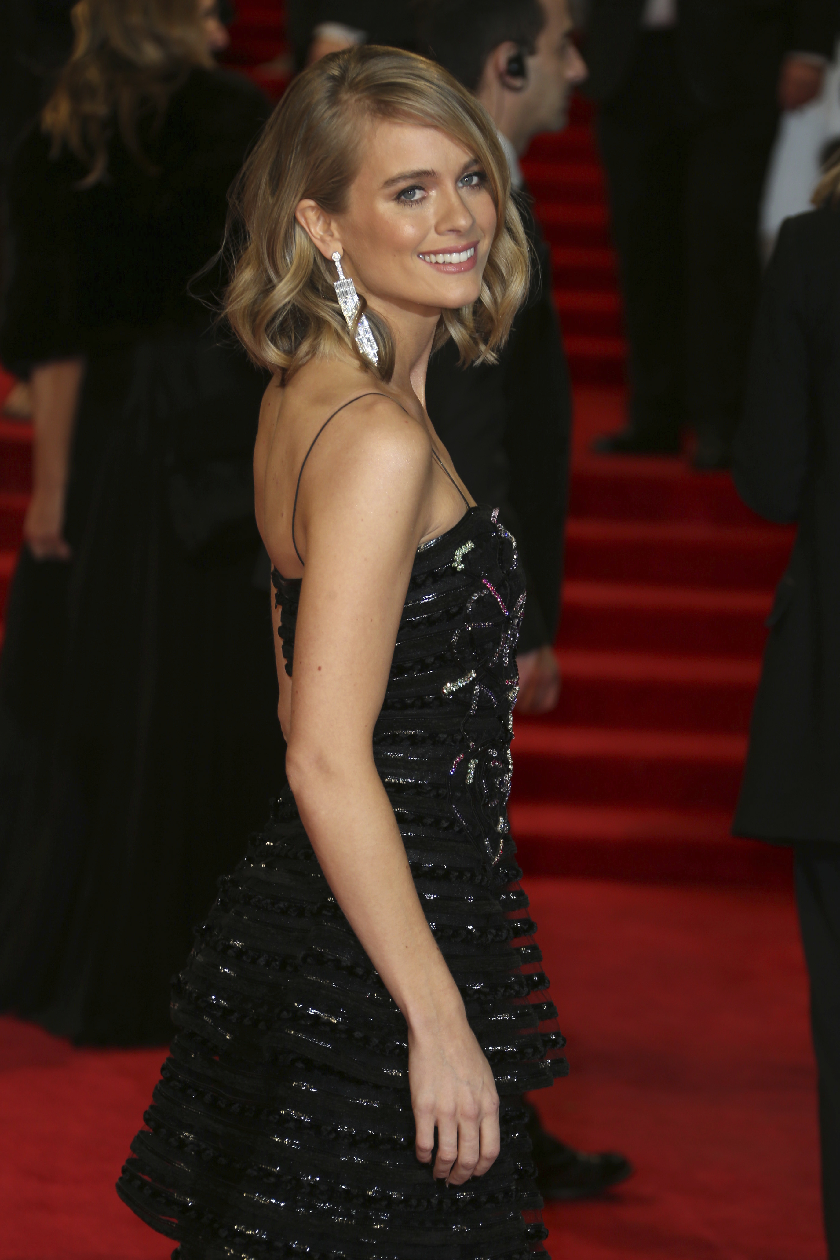 <div class='meta'><div class='origin-logo' data-origin='AP'></div><span class='caption-text' data-credit='Joel C Ryan/Invision/AP'>Actress Cressida Bonas poses for photographers upon arrival at the BAFTA 2018 Awards in London, Sunday, Feb. 18, 2018.</span></div>
