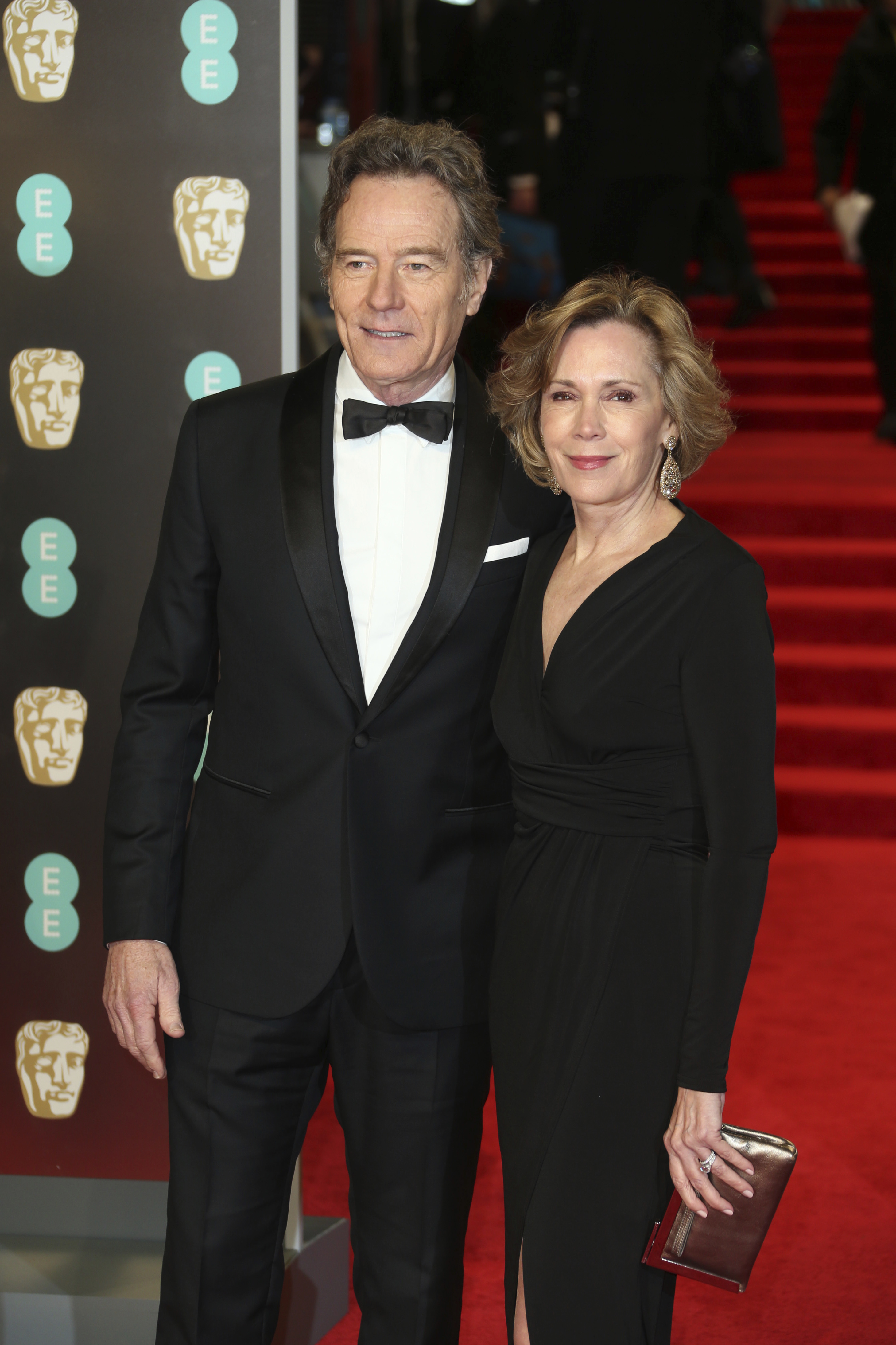 <div class='meta'><div class='origin-logo' data-origin='AP'></div><span class='caption-text' data-credit='Joel C Ryan/Invision/AP'>Actor Bryan Cranston and Robin Dearden pose for photographers upon arrival at the BAFTA 2018 Awards in London, Sunday, Feb. 18, 2018.</span></div>