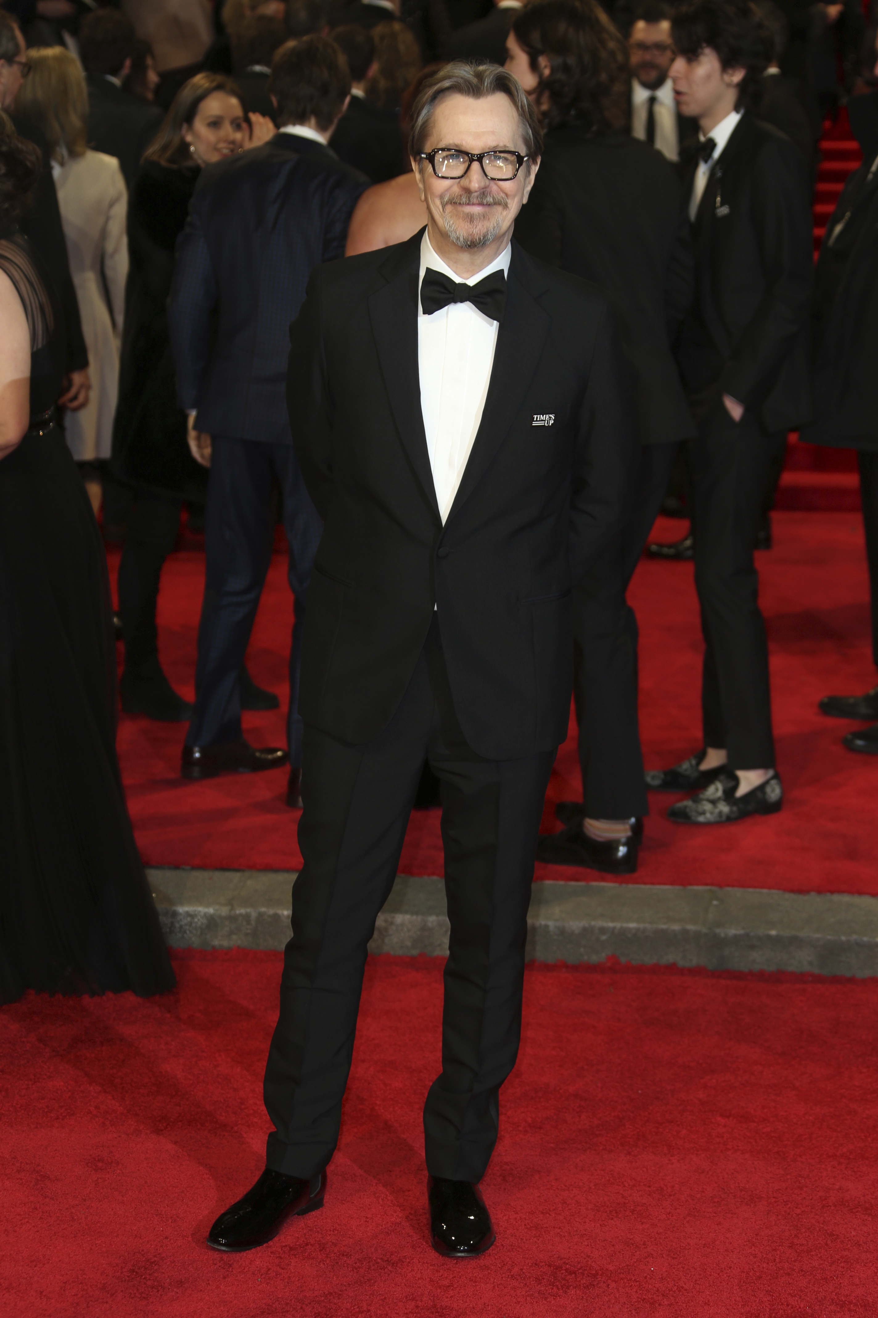 <div class='meta'><div class='origin-logo' data-origin='AP'></div><span class='caption-text' data-credit='Joel C Ryan/Invision/AP'>Actor Gary Oldman poses for photographers upon arrival at the BAFTA 2018 Awards in London, Sunday, Feb. 18, 2018.</span></div>