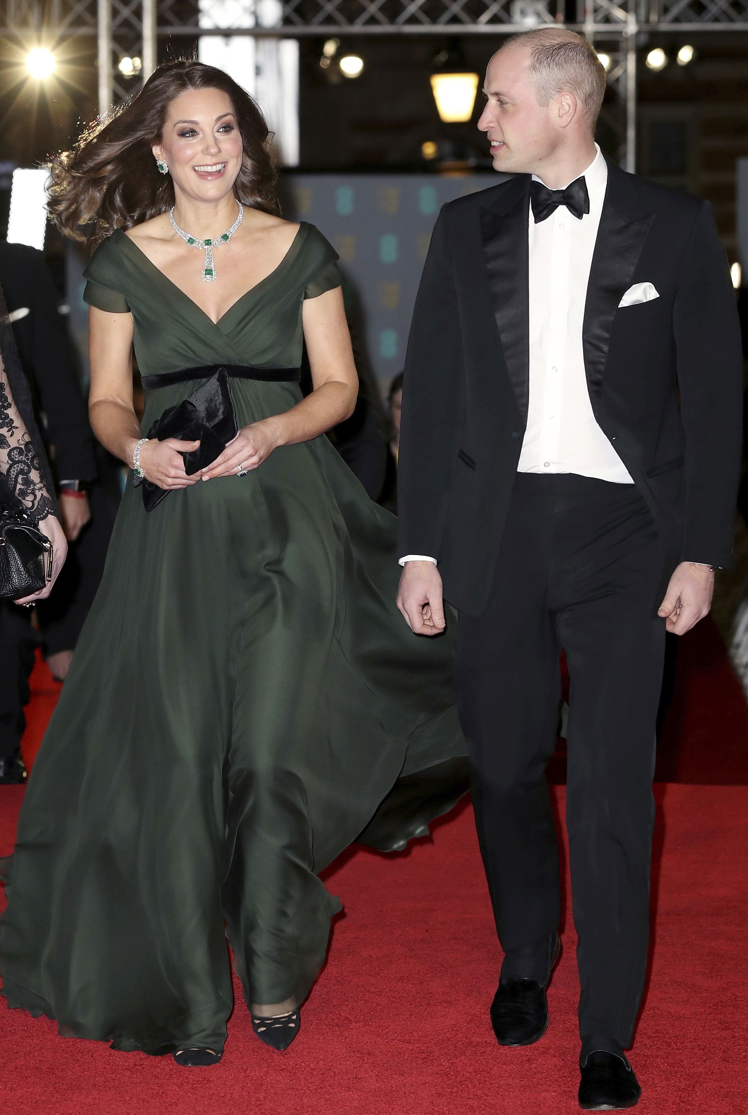 <div class='meta'><div class='origin-logo' data-origin='AP'></div><span class='caption-text' data-credit='AP'>Britain's Prince William and Kate, Duchess of Cambridge arrive for the BAFTA 2018 Awards in London, Sunday, Feb. 18, 2018.</span></div>