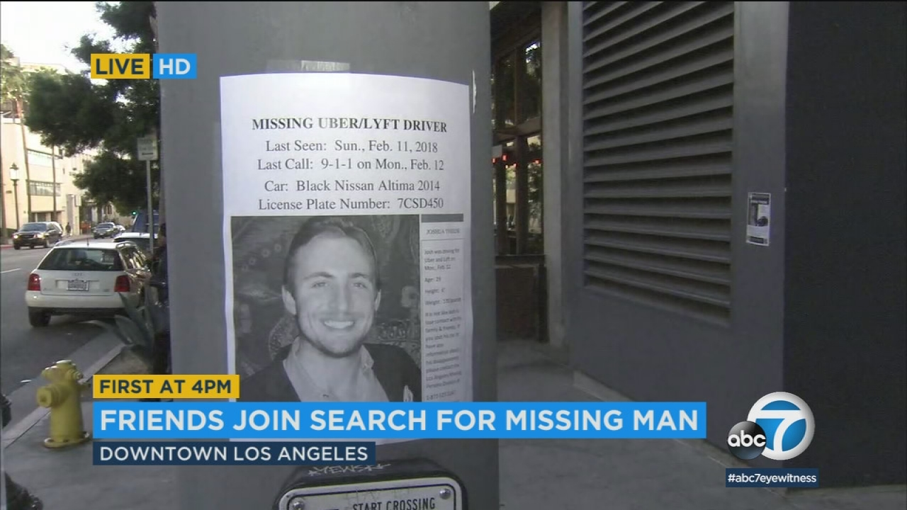 Friends Searching For Missing Rideshare Driver In Downtown LA | Abc7.com