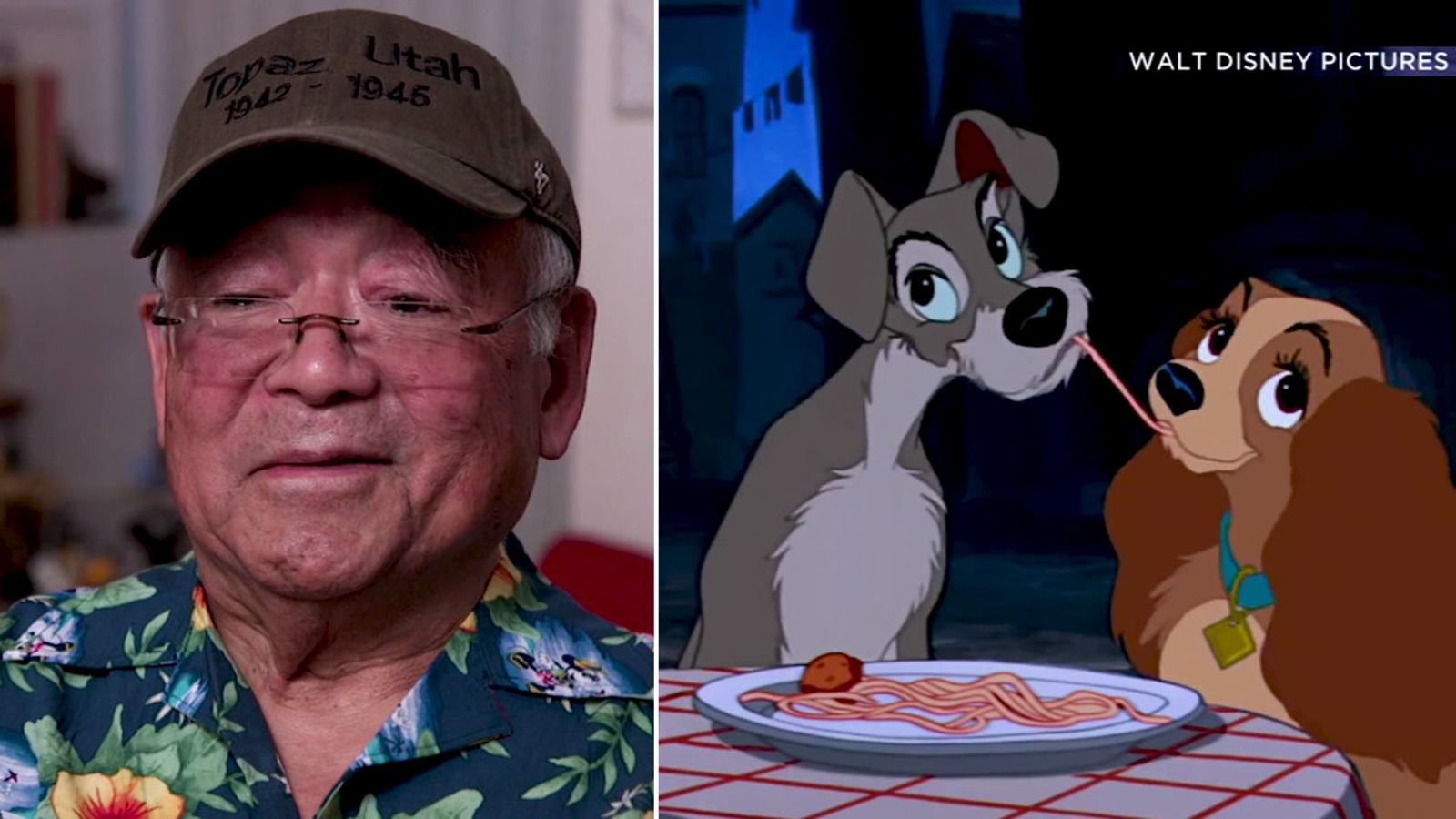 Artist Willie Ito Man Behind Iconic Lady And The Tramp Kiss Reflects On His Life Career Abc7 Los Angeles