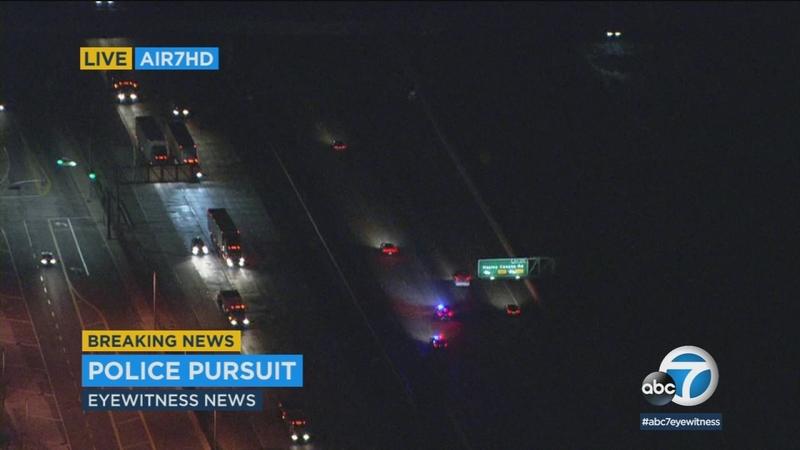 Driver leads authorities on chase through Santa Clarita area