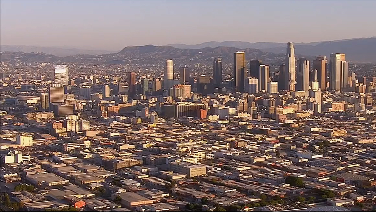 File image of downtown Los Angeles taken from AIR7 HD.