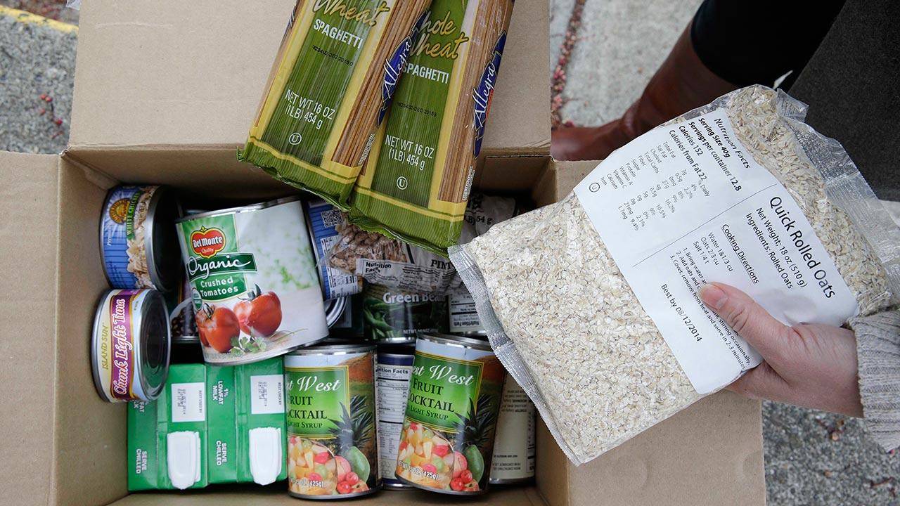 prepared box of food