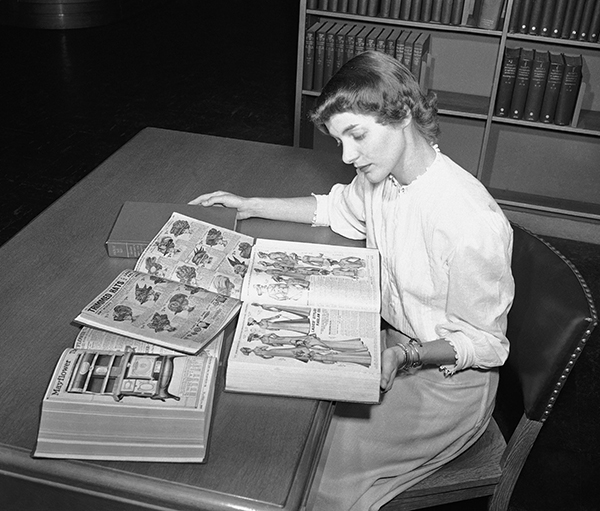 "<div class=""meta image-caption""><div class=""origin-logo origin-image ap""><span>AP</span></div><span class=""caption-text"">Ruth Parrington, librarian in the art department of the Chicago Public Library, studies early Sears Roebuck catalogs. (AP Photo)</span></div>"