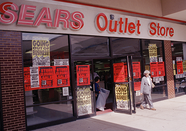 "<div class=""meta image-caption""><div class=""origin-logo origin-image ap""><span>AP</span></div><span class=""caption-text"">The Sears Outlet Store in Downers Grove, Sept. 17, 1993. The remaining outlet stores closed in 1993, marking the end of the company's 105-year-old catalog operation. (AP Photo/Charles Bennett)</span></div>"