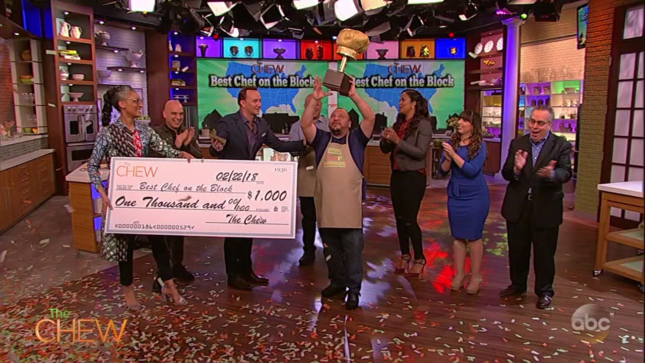 houston chef alex padilla wins the chew s best chef on the block