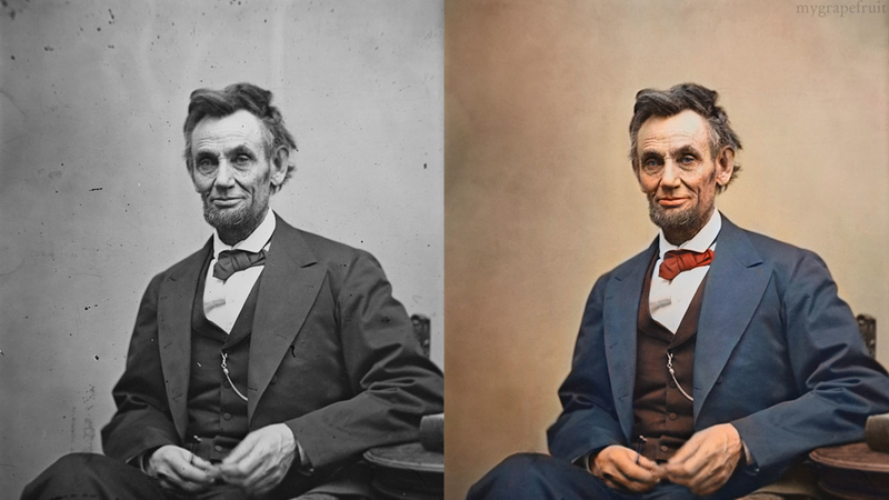 Incredible images artist adds color to famous black and white photos