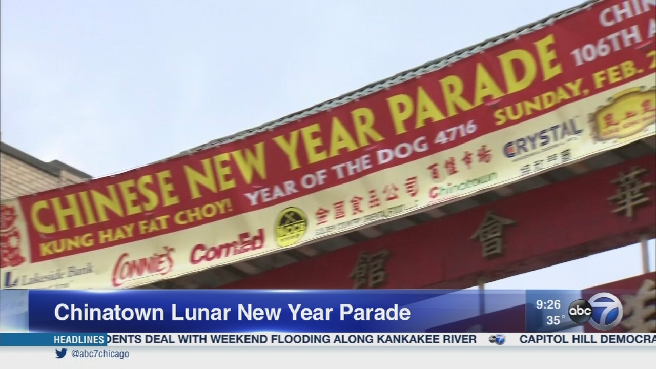 chinatown parade celebrates lunar new year abc7chicagocom