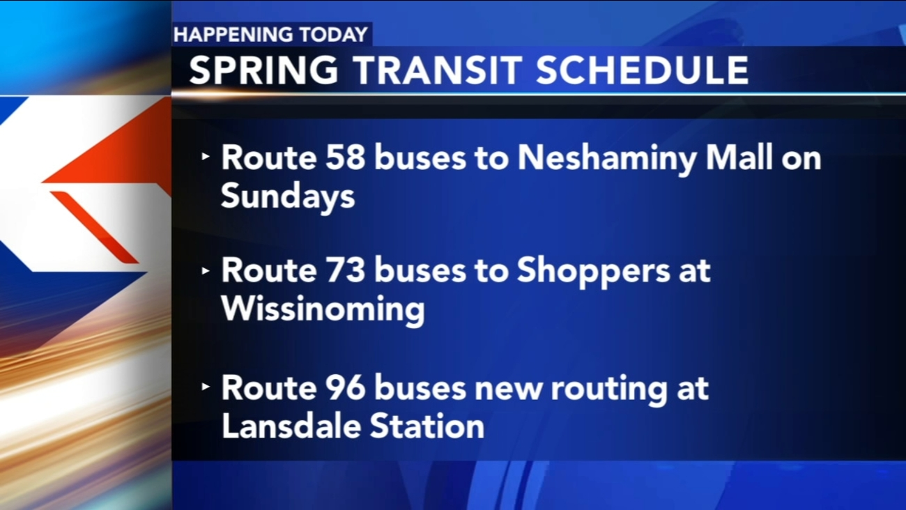 septa releases new city, suburban transit schedules | 6abc
