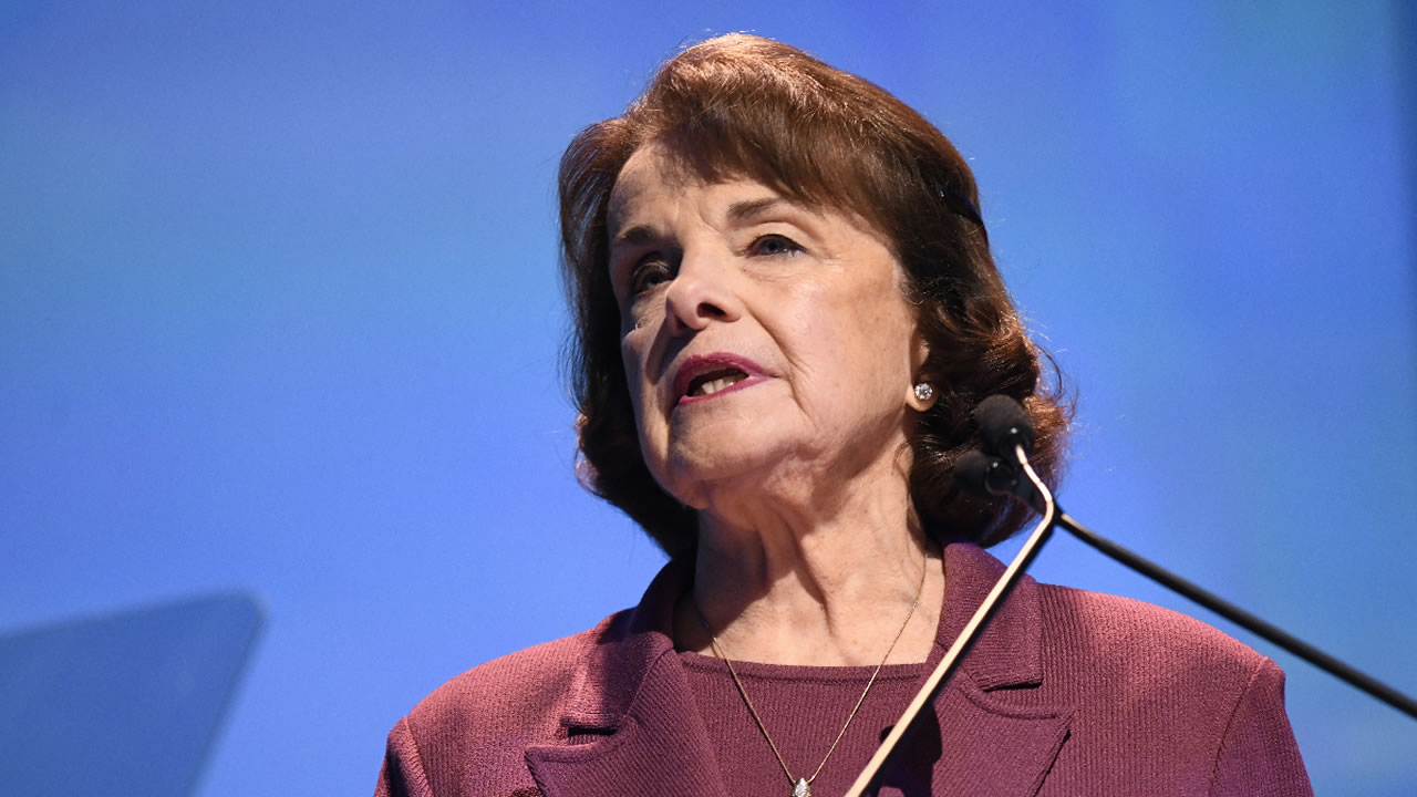 Sen. Dianne Feinstein, D-Calif. speaks at the 2018 California Democrats State Convention Saturday, Feb. 24, 2018, in San Diego.