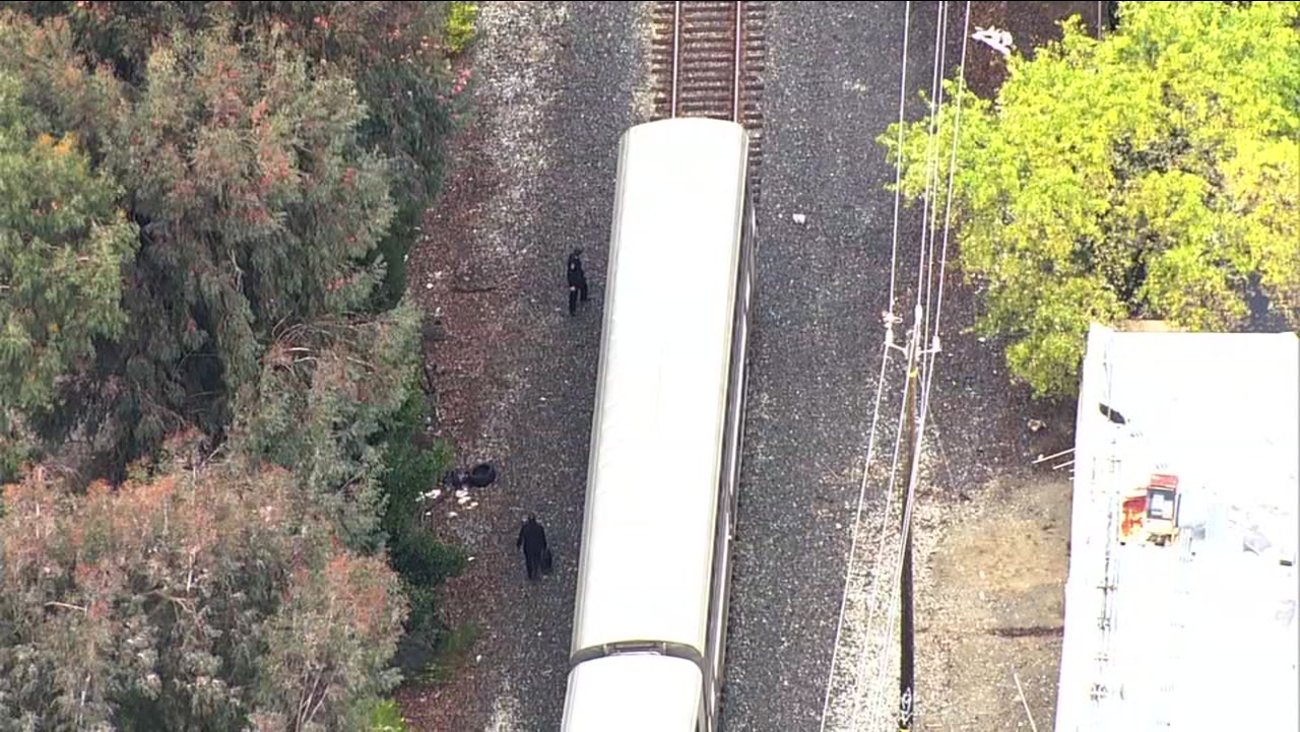 Fatal Amtrak train accident in Union City, California, Wednesday, Feb. 28, 2018.