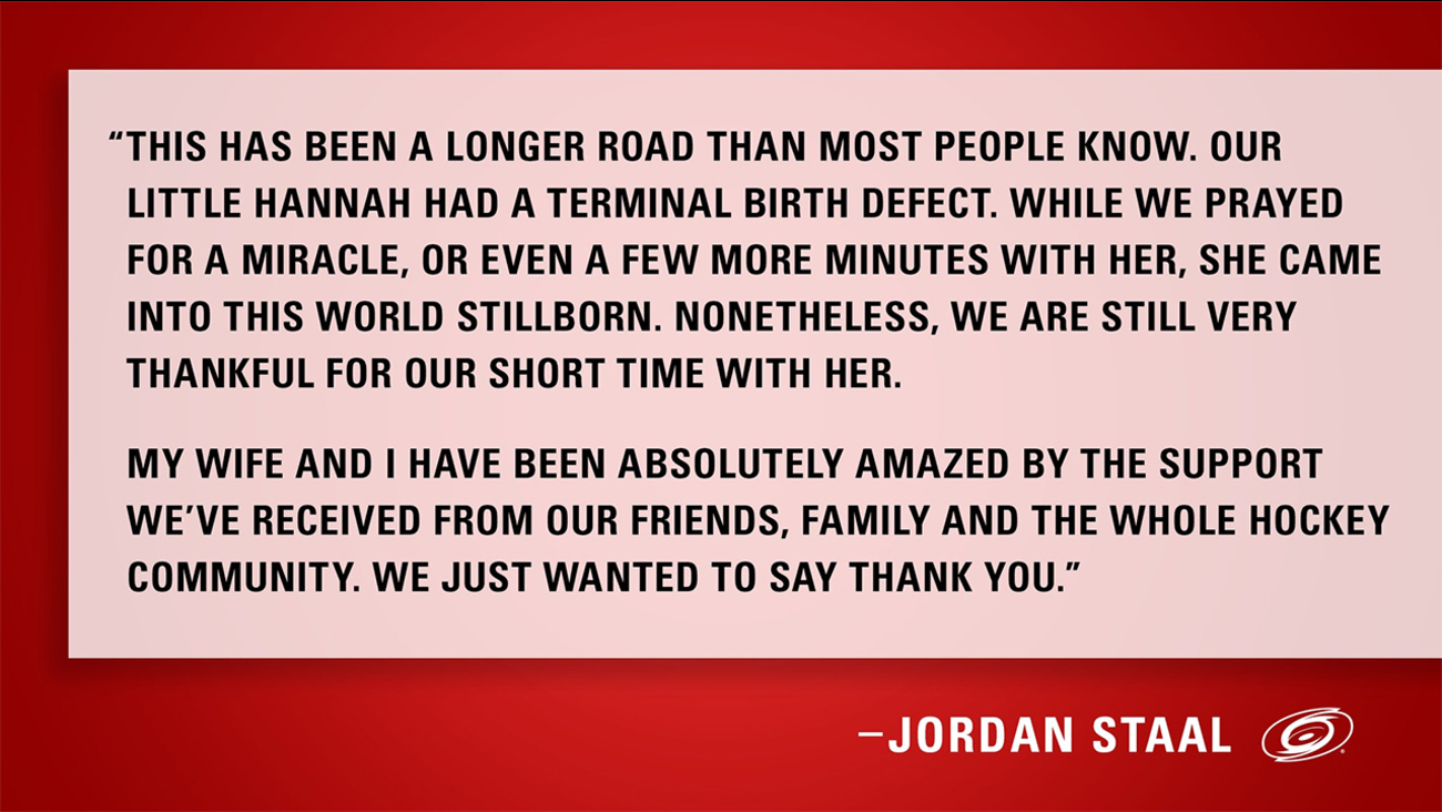 Jordan Staal statement