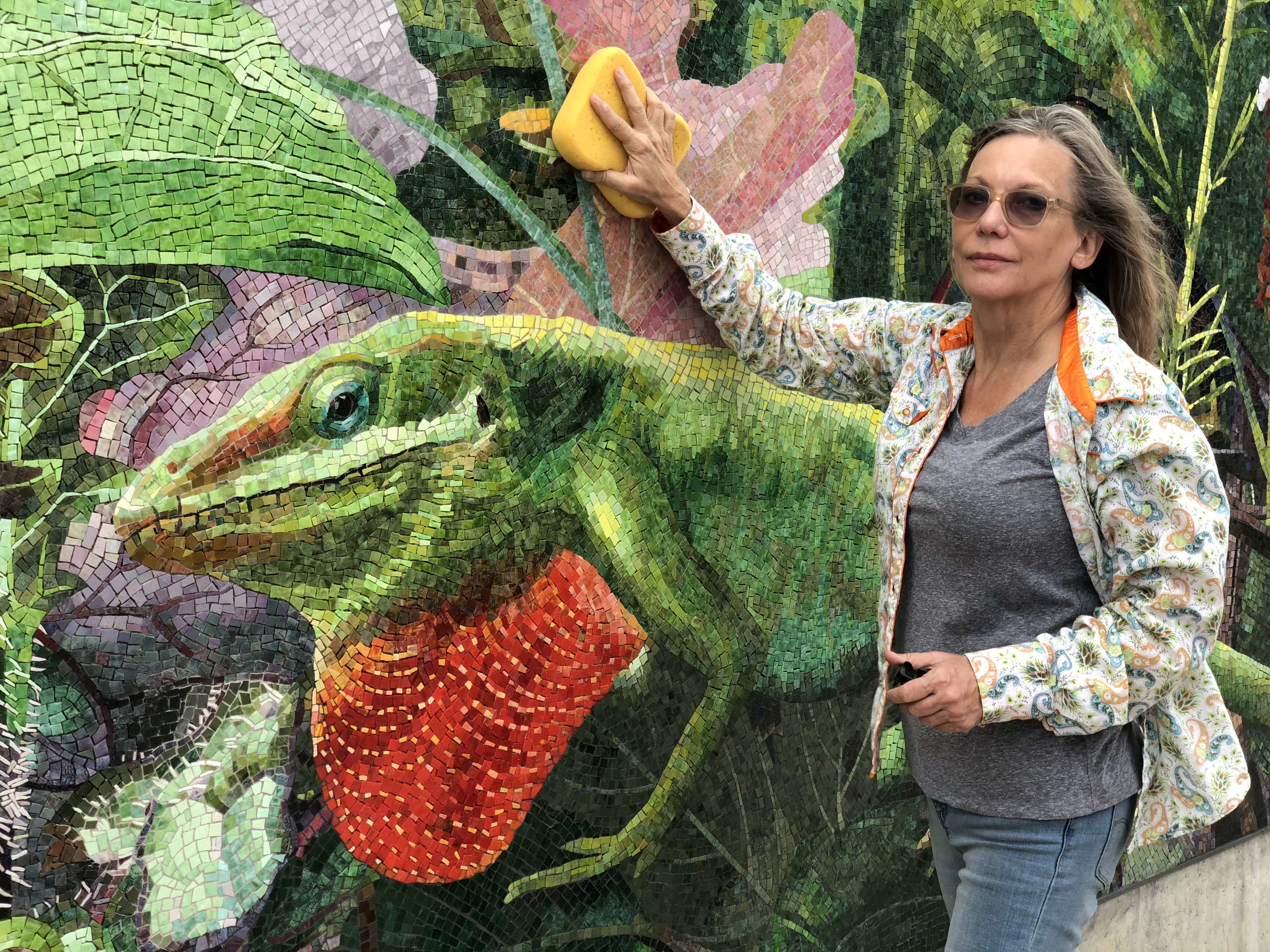 <div class='meta'><div class='origin-logo' data-origin='none'></div><span class='caption-text' data-credit=''>Dixie Friend Gay, HARF Grant Recipient, behind the scenes at her latest project in Midtown Park. (Photo Credits: Sandy Wilson)</span></div>