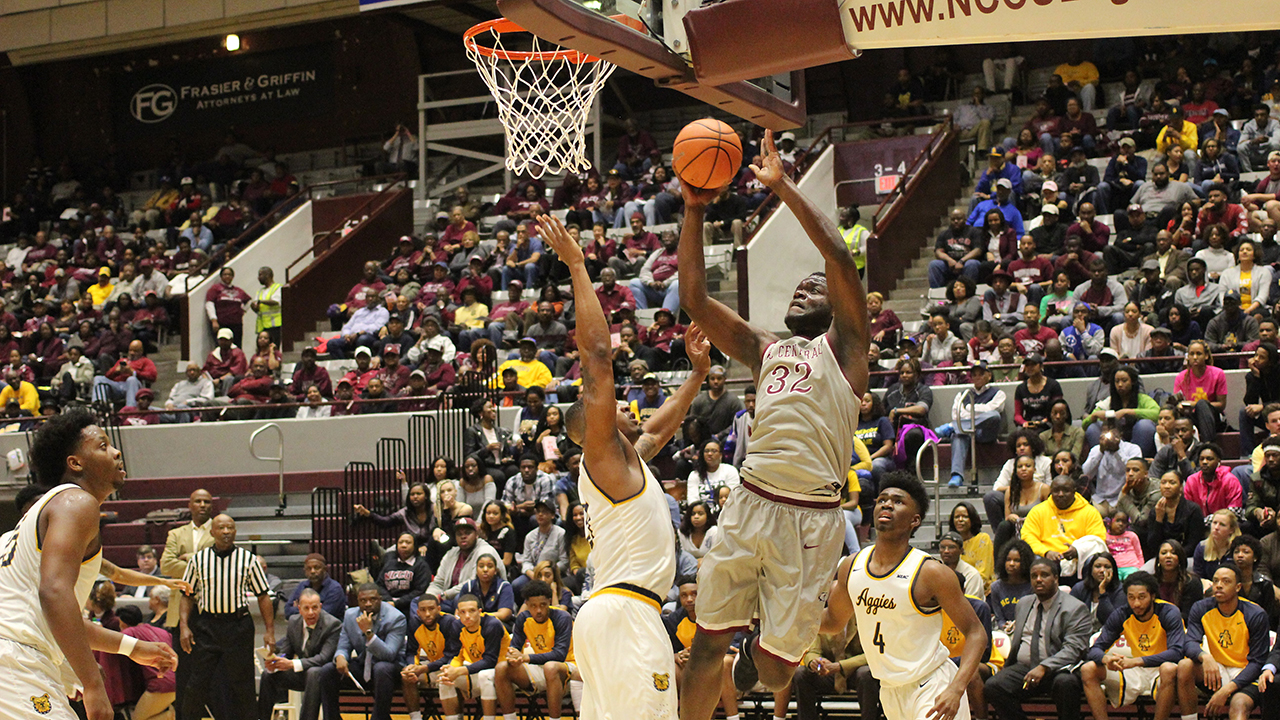 NCCU raised its record to 15-15 with a big win against the Aggies on Thursday night.