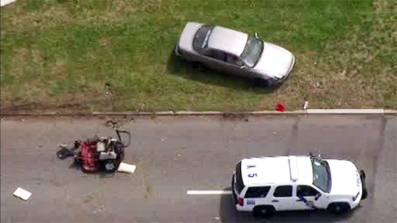 Lawnmawer involved in accident on Roosevelt Boulevard