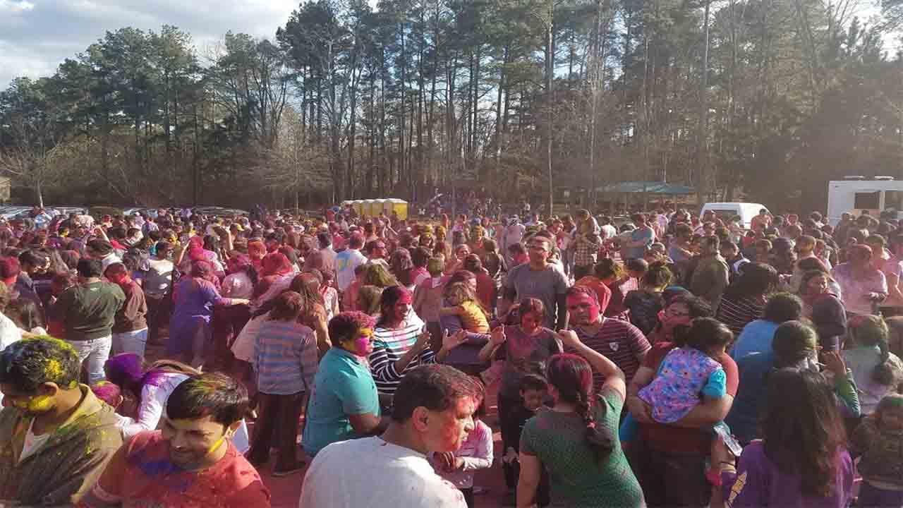 The community enjoying last year's celebration