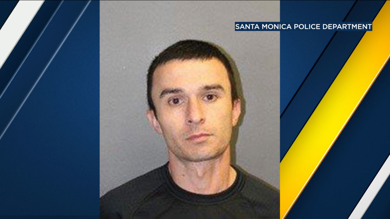 Robert Art Abalov, 32, of Los Angeles, is shown in a photo provided by Santa Monica police.