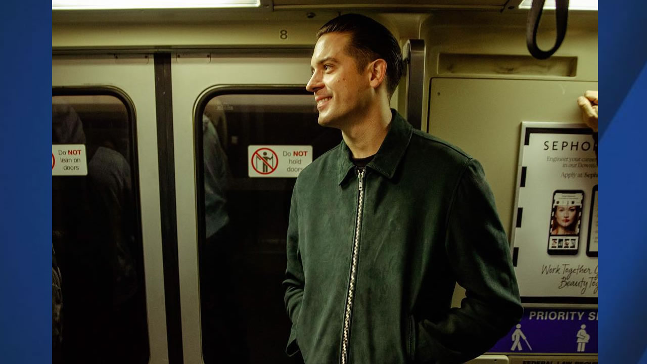 G-Eazy posted this photo on his Instagram page, showing him riding BART to his show in Oakland, Calif. on Thursday, March 1, 2018.