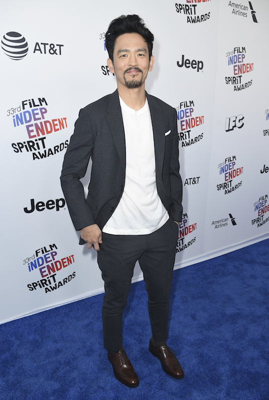 "<div class=""meta image-caption""><div class=""origin-logo origin-image ap""><span>AP</span></div><span class=""caption-text"">John Cho arrives at the 33rd Film Independent Spirit Awards on Saturday, March 3, 2018, in Santa Monica, Calif. (Richard Shotwell/Invision/AP)</span></div>"