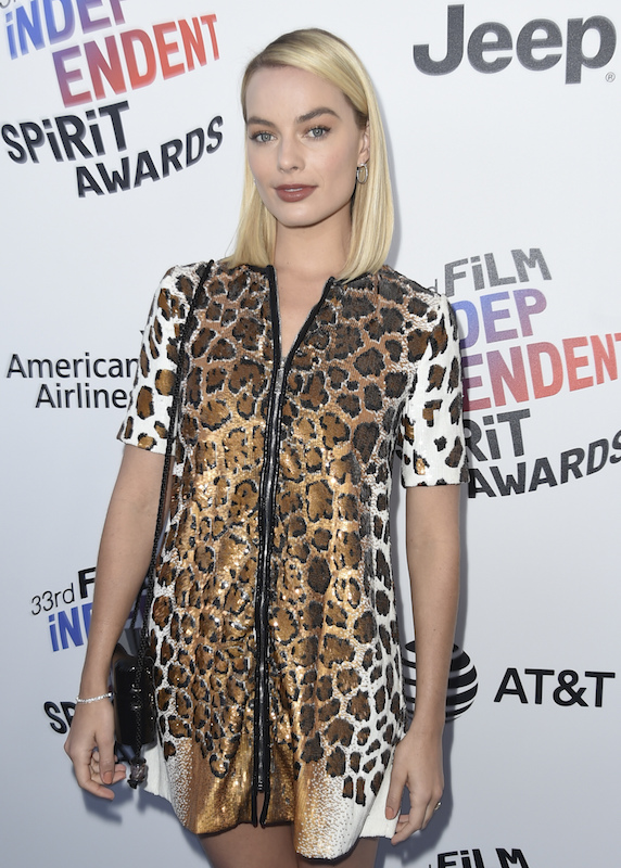 "<div class=""meta image-caption""><div class=""origin-logo origin-image ap""><span>AP</span></div><span class=""caption-text"">Margot Robbie arrives at the 33rd Film Independent Spirit Awards on Saturday, March 3, 2018, in Santa Monica, Calif. (Richard Shotwell/Invision/AP)</span></div>"