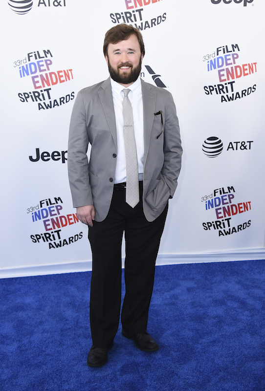 """<div class=""""meta image-caption""""><div class=""""origin-logo origin-image ap""""><span>AP</span></div><span class=""""caption-text"""">Haley Joel Osment arrives at the 33rd Film Independent Spirit Awards on Saturday, March 3, 2018, in Santa Monica, Calif. (Jordan Strauss/Invision/AP)</span></div>"""