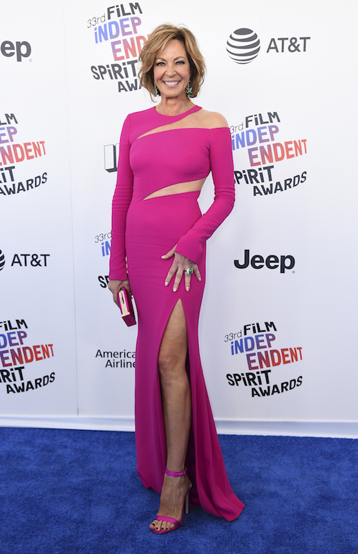 "<div class=""meta image-caption""><div class=""origin-logo origin-image ap""><span>AP</span></div><span class=""caption-text"">Allison Janney arrives at the 33rd Film Independent Spirit Awards on Saturday, March 3, 2018, in Santa Monica, Calif. (Jordan Strauss/Invision/AP)</span></div>"