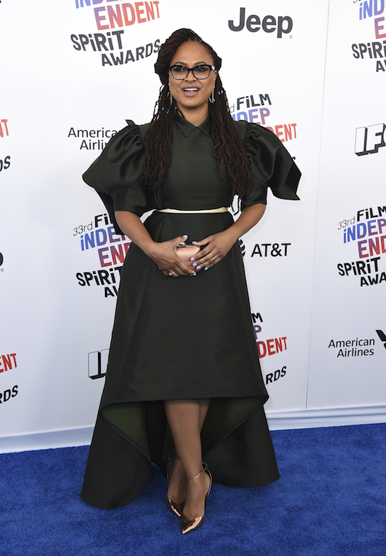"<div class=""meta image-caption""><div class=""origin-logo origin-image ap""><span>AP</span></div><span class=""caption-text"">Ava DuVernay arrives at the 33rd Film Independent Spirit Awards on Saturday, March 3, 2018, in Santa Monica, Calif. (Jordan Strauss/Invision/AP)</span></div>"