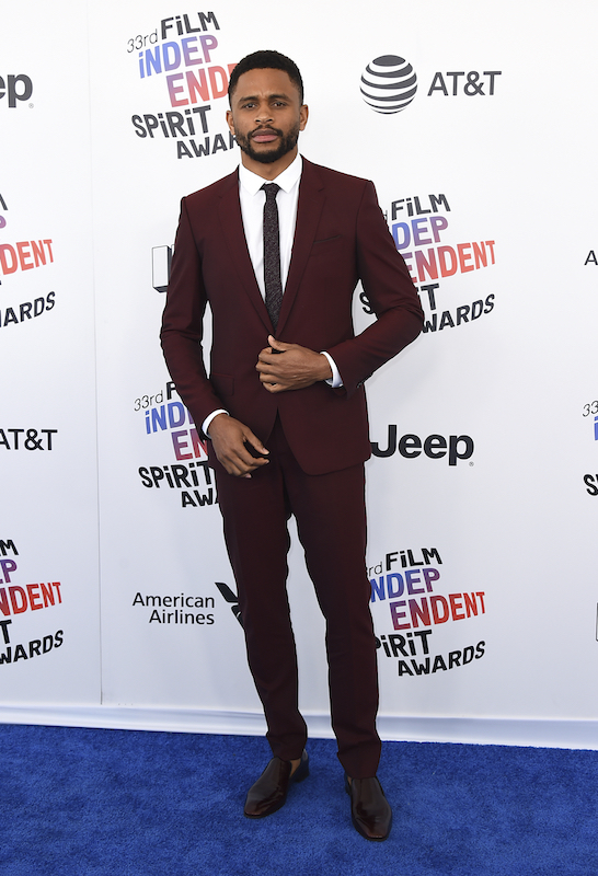 "<div class=""meta image-caption""><div class=""origin-logo origin-image ap""><span>AP</span></div><span class=""caption-text"">Nnamdi Asomugha arrives at the 33rd Film Independent Spirit Awards on Saturday, March 3, 2018, in Santa Monica, Calif. (Jordan Strauss/Invision/AP)</span></div>"