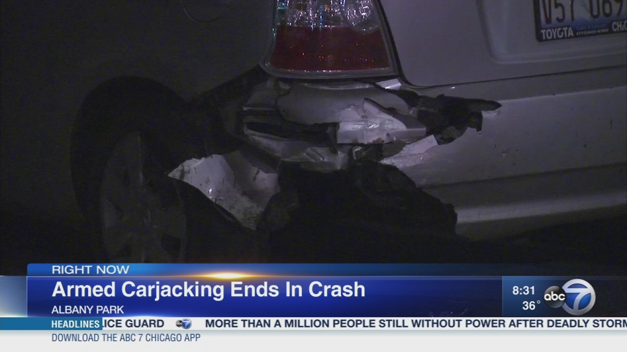 jefferson park carjacking leads to police chase, crash | abc7chicago