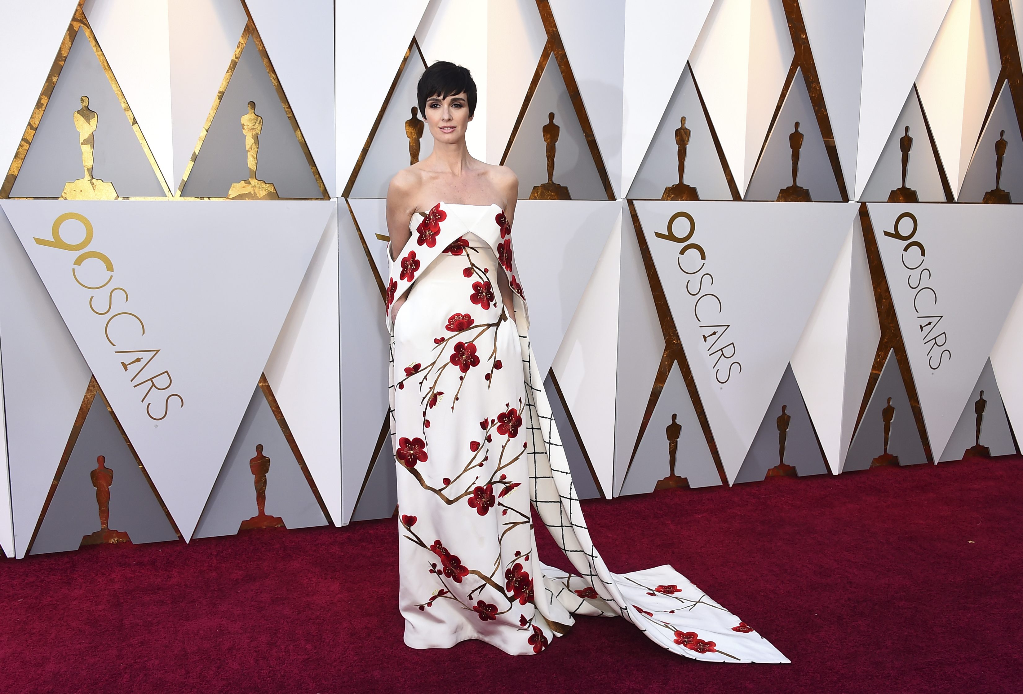 <div class='meta'><div class='origin-logo' data-origin='none'></div><span class='caption-text' data-credit='Jordan Strauss/Invision/AP'>Paz Vega arrives at the Oscars on Sunday, March 4, 2018, at the Dolby Theatre in Los Angeles.</span></div>