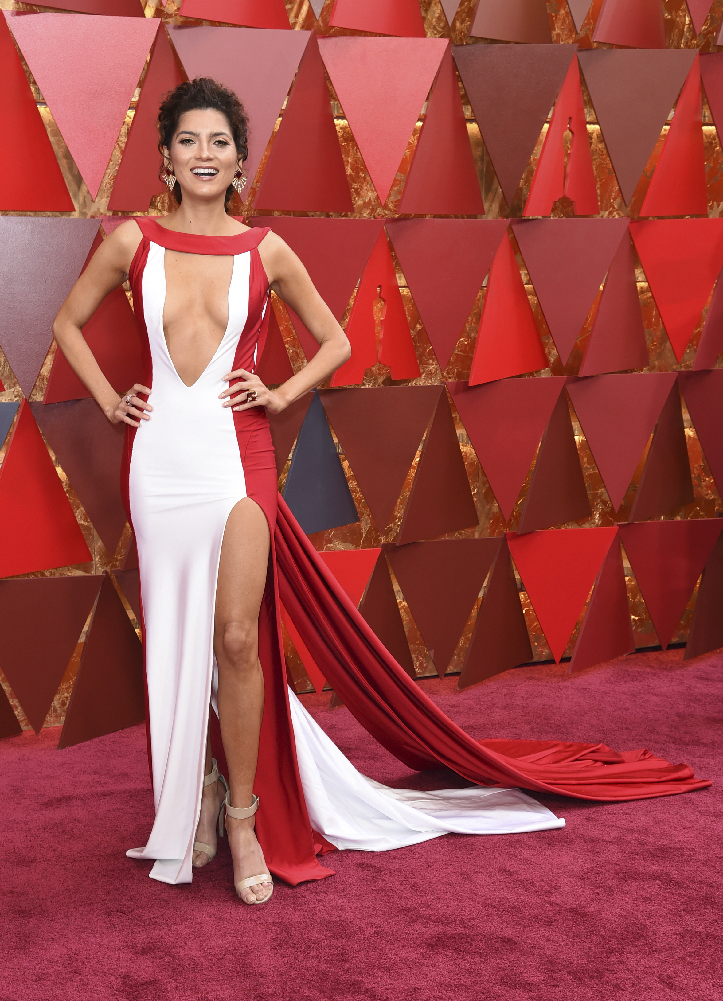 <div class='meta'><div class='origin-logo' data-origin='none'></div><span class='caption-text' data-credit='Richard Shotwell/Invision/AP'>Blanca Blanco arrives at the Oscars on Sunday, March 4, 2018, at the Dolby Theatre in Los Angeles.</span></div>