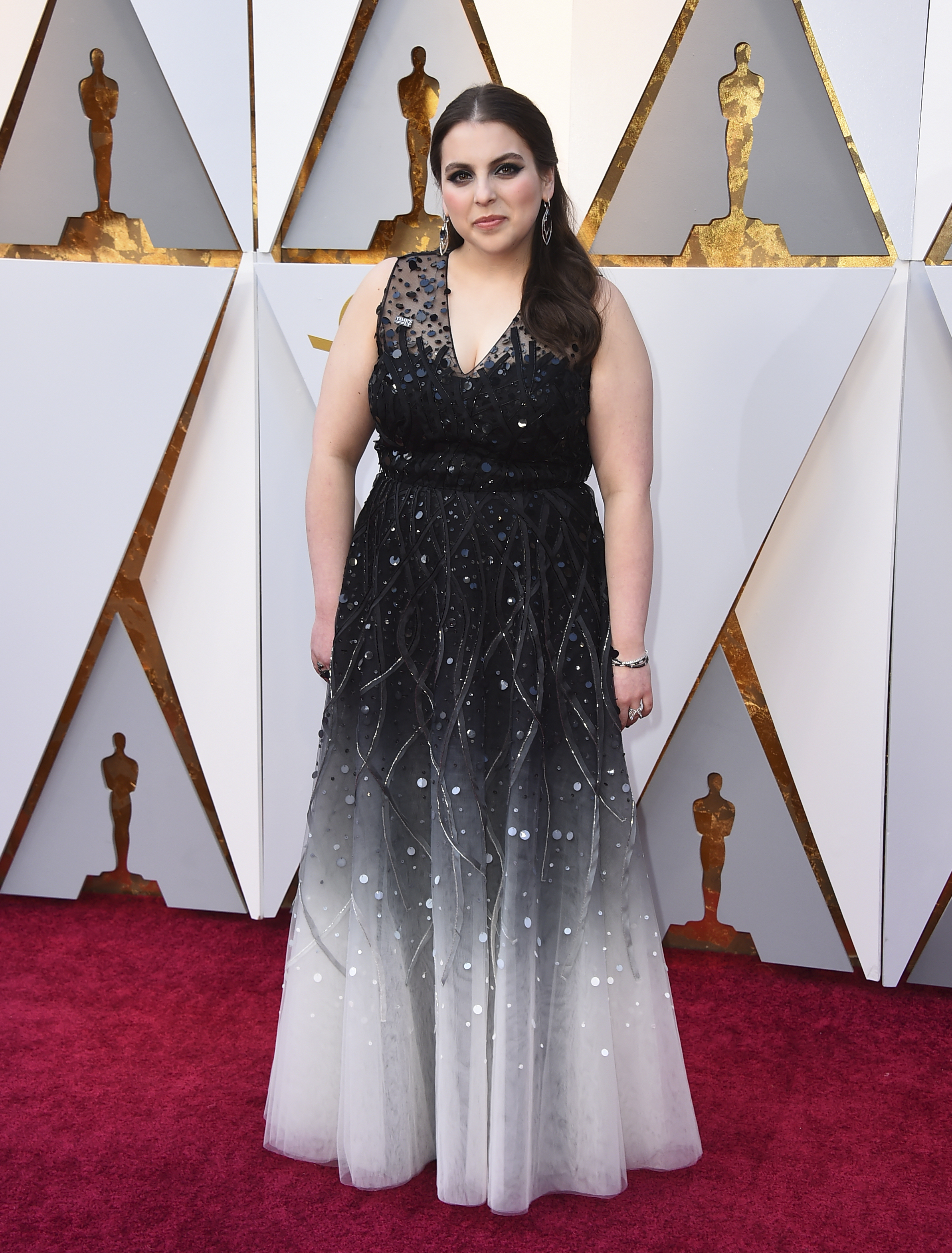 "<div class=""meta image-caption""><div class=""origin-logo origin-image none""><span>none</span></div><span class=""caption-text"">Beanie Feldstein of ''Lady Bird'' arrives at the Oscars on Sunday, March 4, 2018, at the Dolby Theatre in Los Angeles. (Jordan Strauss/Invision/AP)</span></div>"