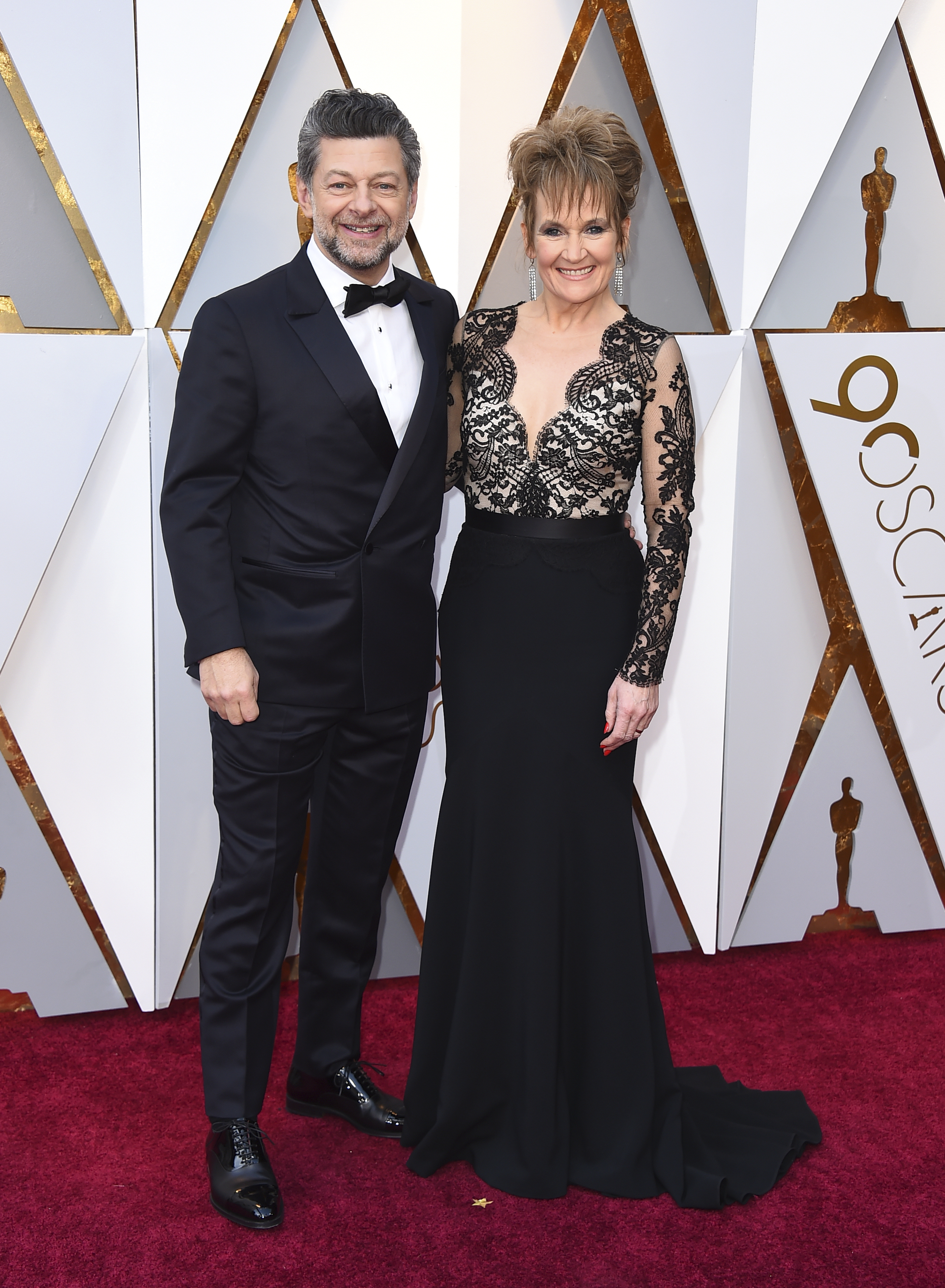 <div class='meta'><div class='origin-logo' data-origin='none'></div><span class='caption-text' data-credit='Jordan Strauss/Invision/AP'>Andy Serkis, left, and Lorraine Ashbourne arrive at the Oscars on Sunday, March 4, 2018, at the Dolby Theatre in Los Angeles.</span></div>